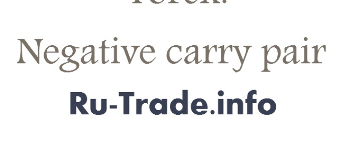 Forex: Negative carry pair