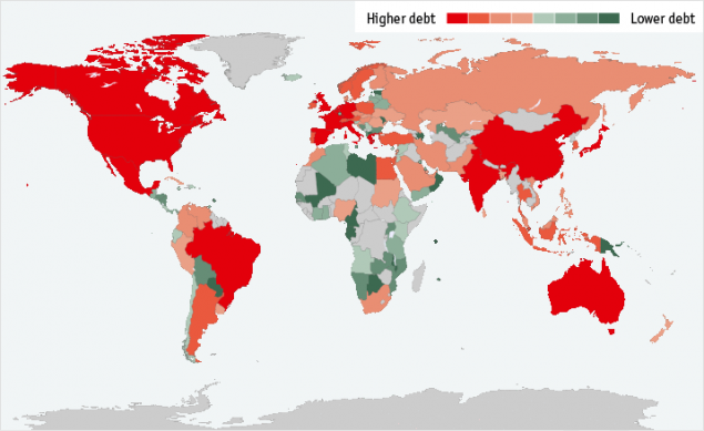 Госдолг стран мира 2014
