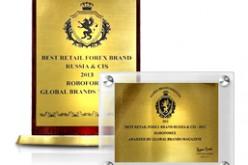 RoboForex — лауреат Global Brands Awards 2013