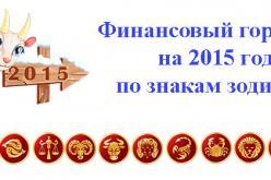 Финансовый гороскоп на 2015 год по знакам зодиака